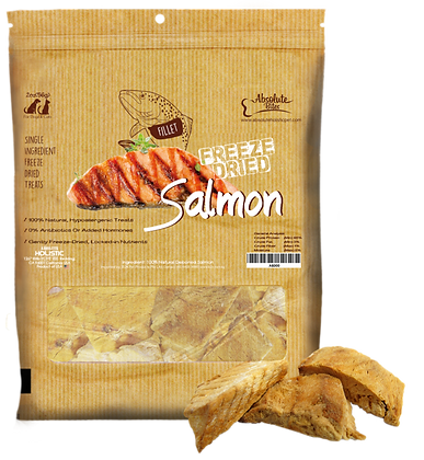 Absolute Bites Freeze Dried Salmon Treats 4oz