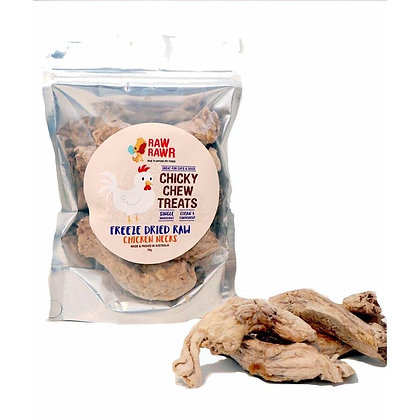 Raw Rawr Freeze Dried Chicken Neck Treats for Dogs/Cats 70g