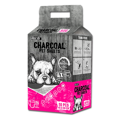 Absorb Plus Charcoal Pet Sheets (45 x 60cm)