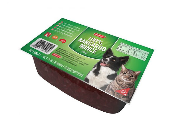 Prime100 Kangaroo Mince Tray for Dogs & Cats 800g