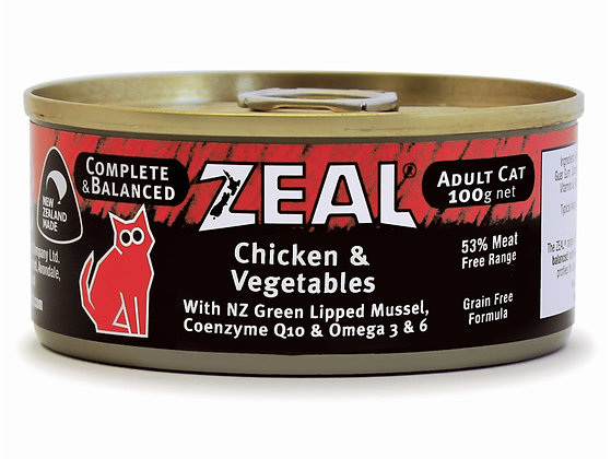 Zeal Chicken & Vegetables Grain Free Cat Canned Food 100g