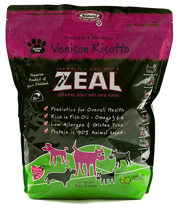 Zeal Venison Risotto Dog Soft Dry Food 3kg