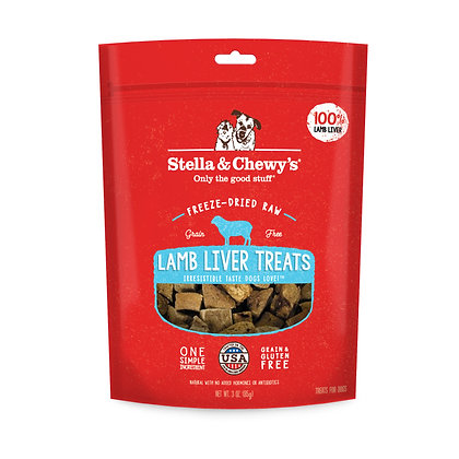Stella & Chewy's Lamb Liver Single Ingredient Treats 2.75oz