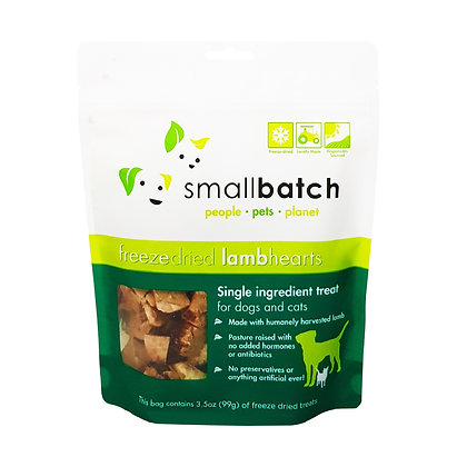SmallBatch Lamb Heart Treat 3.5oz