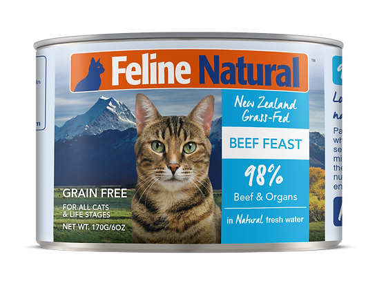 Feline Natural Beef Cat Canned Food 170g