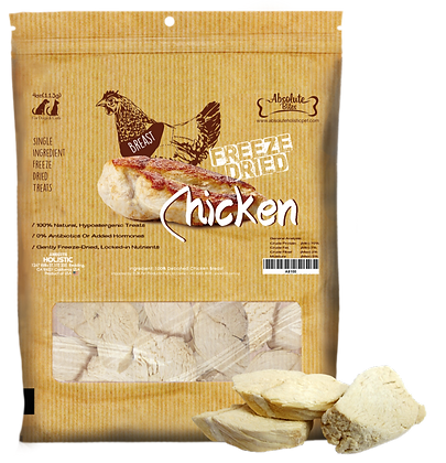 Absolute Bites Freeze Dried Chicken Treats 4oz