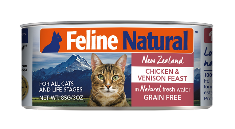 Feline Natural Chicken & Venison Cat Canned Food 85g