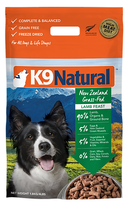 K9 Natural Lamb Feast Freeze Dried Dog Food 1.8kg