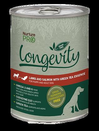 Nurture Pro Longevity Grain Free Lamb &Salmon with GreenTea Dog Canned Food 375g