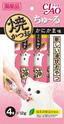 Ciao Chu ru Grilled Tuna Chu ru Crab Flavour 12g x 4