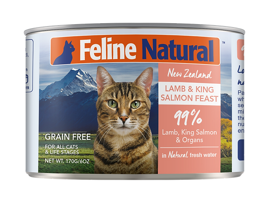 Feline Natural Lamb & King Salmon Cat Canned Food 170g