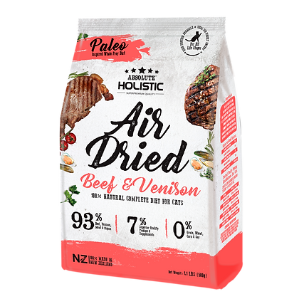 Absolute Holistic Air Dried Cat Food (Beef & Venison) 500g