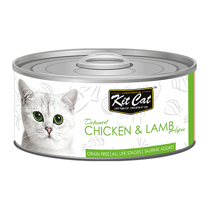 Kit Cat Chicken & Lamb Aspic Canned Cat Food 80g