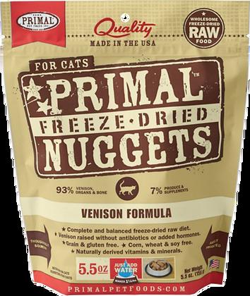 Primal Freeze Dried Feline Venison Nuggets (Cat) 5.5oz