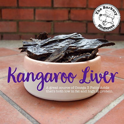 The Barkery - Dehydrated Kangaroo Liver 100g