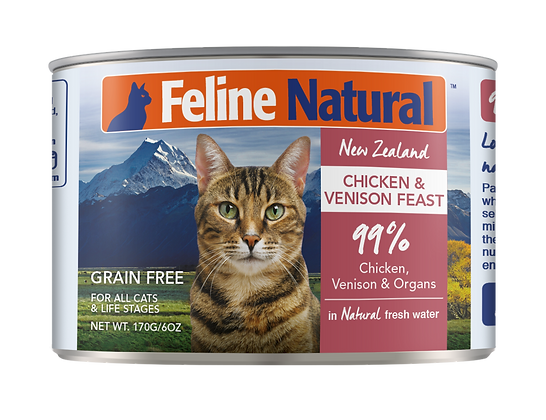 Feline Natural Chicken & Venison Cat Canned Food 170g