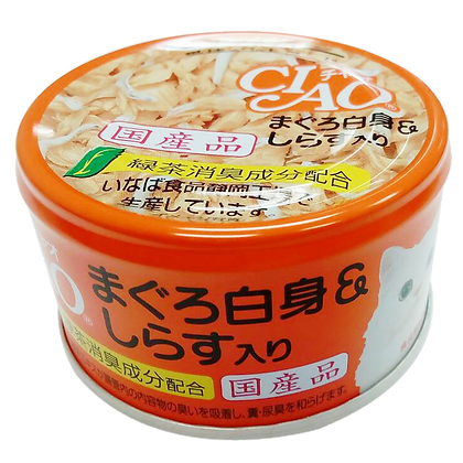 Ciao White Meat Canned Food - White Meat Tuna with Shirasu in Jelly 65g