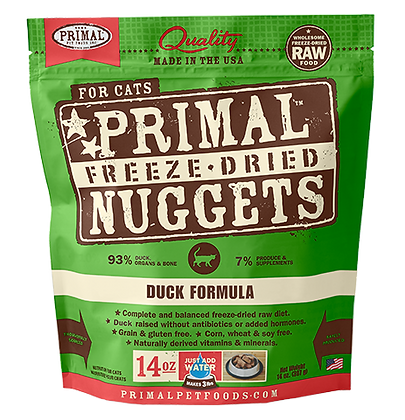 [2 FOR $99] Primal Freeze Dried Feline Duck Nuggets (Cat) 14oz