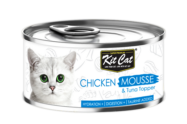 Kit Cat Chicken Mousse With Tuna Toppers 80g