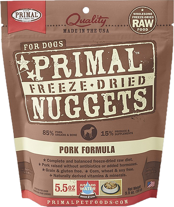 Primal Freeze Dried Pork (Dog) 5.5oz