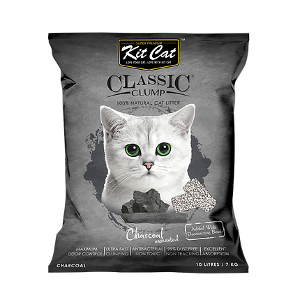 Kit Cat Charcoal Classic Clump Cat Litter 10kg/7l