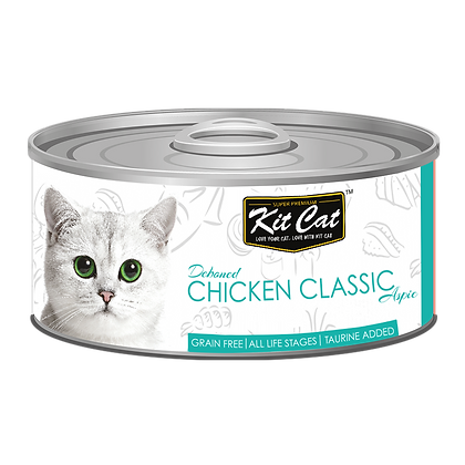 Kit Cat Chicken Classic Aspic Canned Cat Food 80g