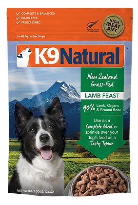 K9 Natural Lamb Feast Freeze Dried Dog Food 500g