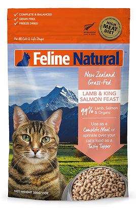 Feline Natural Lamb & King Salmon Freeze Dried Cat Food 320g