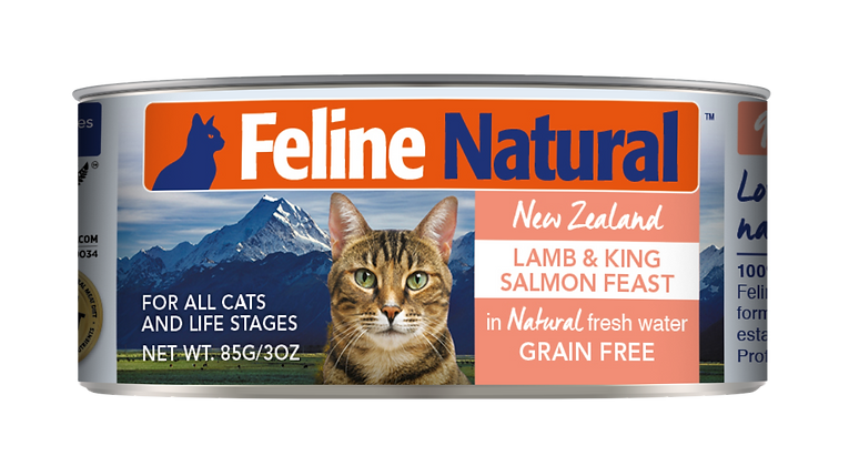 Feline Natural Lamb & King Salmon Cat Canned Food 85g