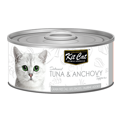 Kit Cat Tuna & Anchovy Aspic Canned Cat Food 80g