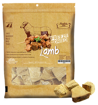 Absolute Bites Freeze Dried Lamb Treats 4oz