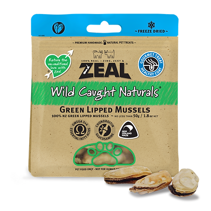 Zeal Green Lipped Mussels Freeze Dried Dog & Cat Treats 50g