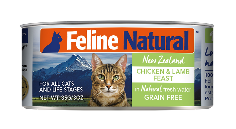 Feline Natural Chicken & Lamb Cat Canned Food 85g