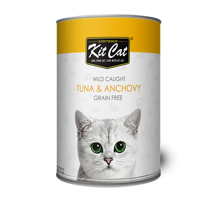Kit Cat Atlantic Tuna With Whole Anchovy Canned Cat Food 400g
