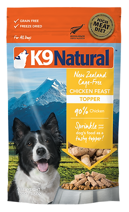 K9 Natural Chicken Feast Freeze Dried Toppers 100g