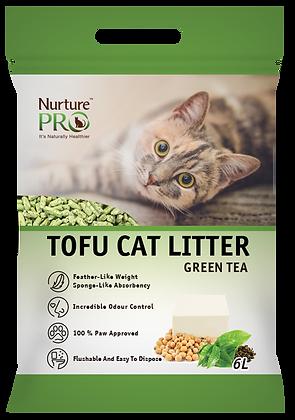 Nurture Pro Green Tea Tofu Cat Litter 6l