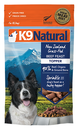 K9 Natural Beef Feast Freeze Dried Toppers 142g