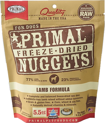 Primal Freeze Dried Lamb (Dog) 5.5oz