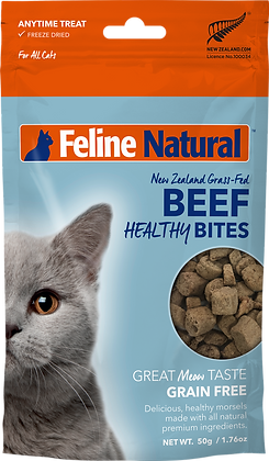 Feline Natural Freeze Dried Beef Healthy Bites 50g