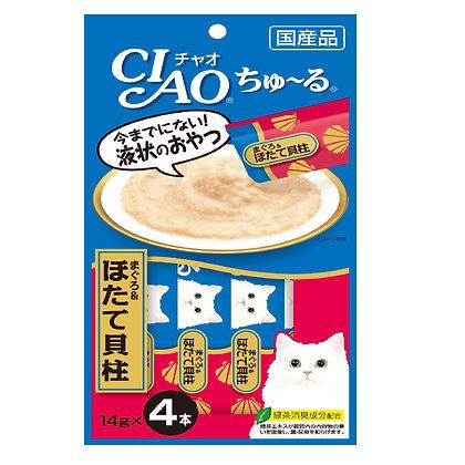Ciao Chu ru White Meat Tuna & Scallop 14g x 4