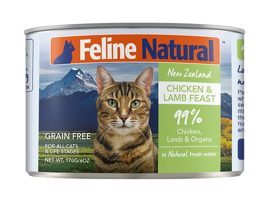 Feline Natural Chicken & Lamb Cat Canned Food 170g