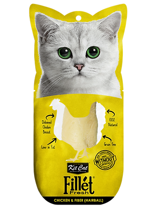Kit Cat Fillet Fresh Chicken & Fiber (HairBall)