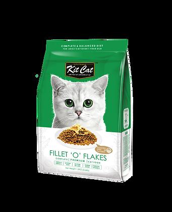 Kit Cat Fillet 'O' Flakes Premium Cat Food 1.2kg