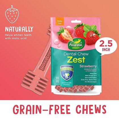 """Happi Doggy Dental Chew Zest Strawberry 2.5"""""""
