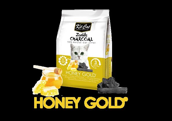 Kit Cat Zeolite Charcoal Honey Gold Cat Litter 4kg