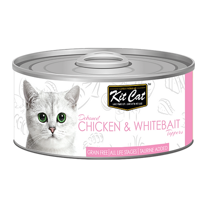 Kit Cat Chicken & Whitebait Aspic Canned Cat Food 80g