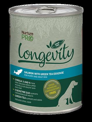 Nurture Pro Longevity Grain Free Salmon with Green Tea Dog Canned Food 375g