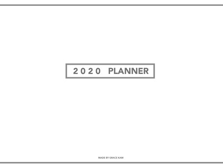 2020 planner/子彈筆記
