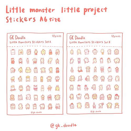 little monster little project - stickers