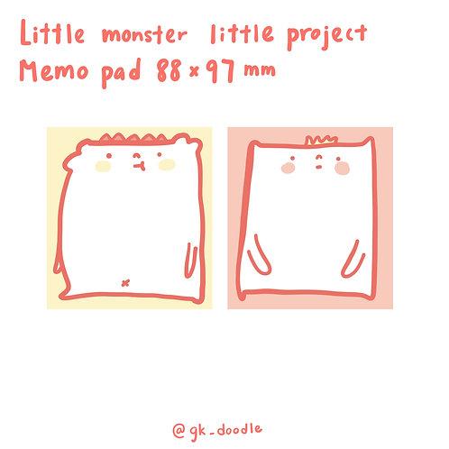 Little monster little project - memo pad